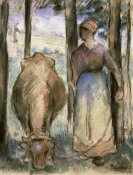 Camille Pissarro - The Cowherd (La Vachere)