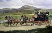 Alfred F. de Prades - Coach & Four Horses On The Open Road