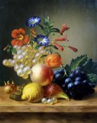 Johannes Reekers - Grapes, a Lemon, a Fig and other Fruit