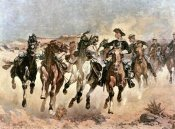 Frederic Remington - Dismounted: The 4th Troopers Moving