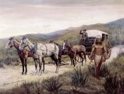 Frederic Remington - Halted Stagecoach