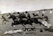 Frederic Remington - Indian Village Routed, Geronimo Fleeing From Camp