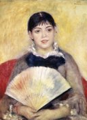 Pierre-Auguste Renoir - Girl with a Fan