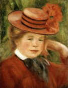 Pierre-Auguste Renoir - Girl with a Red Hat