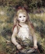 Pierre-Auguste Renoir - Girl with a Sheaf of Corn
