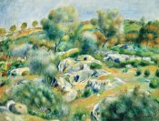 Pierre-Auguste Renoir - Landscape of Bretagne, Trees and Rocks