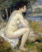 Pierre-Auguste Renoir - Nude Woman Seated In A Landscape