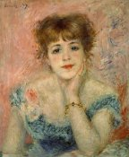 Pierre-Auguste Renoir - Portrait of Actress Jeanne Samary