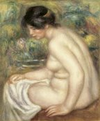 Pierre-Auguste Renoir - Profile Of Seated Bather