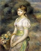 Pierre-Auguste Renoir - Young Girl Carrying a Basket of Flowers