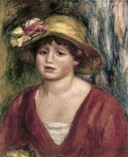 Pierre-Auguste Renoir - Young Girl In a Red Dress