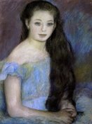 Pierre-Auguste Renoir - Young Girl With Dark Brown Hair