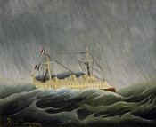 Henri Rousseau - The Ship in the Storm
