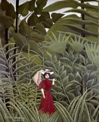 Henri Rousseau - Woman with an Umbrella in an Exotic Forest