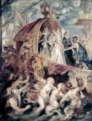 Peter Paul Rubens - Marie De Medici Arrives In Marseilles