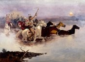 Charles M. Russell - Crossing The River