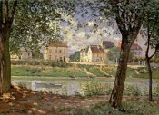 Alfred Sisley - Little Town on the River Seine, 1872