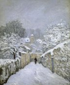 Alfred Sisley - The Snow in Louveciennes