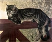 Theophile Steinlen - Cat On The Balustrade