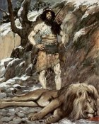James Tissot - Benaiah, Who Slew The Lion