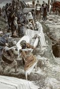 James Tissot - Body of Jesus Carried To The Stone of Anointing