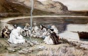 James Tissot - Christ Eating With His Disciples