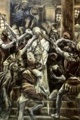 James Tissot - Christ Mocked In The House of Caiaphas