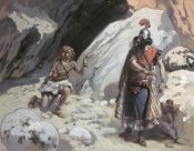 James Tissot - David and Saul In The Cave