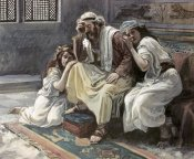 James Tissot - David Mourns His Son Ammon