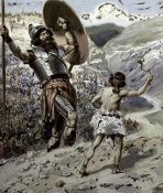 James Tissot - David Slings The Stone