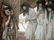 James Tissot - Egyptians Admire Sarah's (Sarai) Beauty