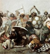 James Tissot - Joshua Destroys The Giants