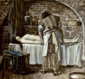 James Tissot - Levite Before The Corpse of His Wife