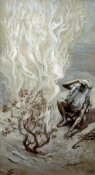 James Tissot - Moses Adores God In The Burning Bush