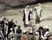 James Tissot - Moses Forbids The People To Follow Him