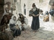 James Tissot - Old Man Invites The Levite