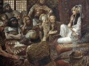 James Tissot - Philistines Visit Delilah