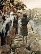 James Tissot - Saul Questions The Young Maidens