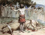 James Tissot - Saul Sacrifices The Oxen