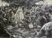 James Tissot - They Went Backward and Fell To The Ground