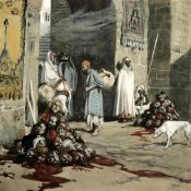 James Tissot - Two Heaps of Skulls at The City Gate