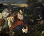 Titian - Virgin and Child With Saint Catherine