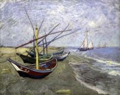 Vincent Van Gogh - Fishing Boats On The Beachat Saintes-Maries