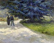 Vincent Van Gogh - Public Garden with Couple and Blue Fir Tree