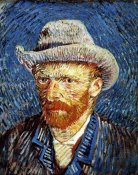 Vincent Van Gogh - Self Portrait in Grey Felt Hat