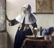 Johannes Vermeer - Woman with a Water Jug - Detail