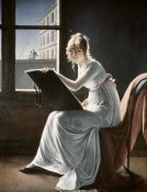 Marie Denise Villers - Young Woman Drawing 1801