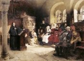 Hugo Vogel - Martin Luther Preaches In Wartburg