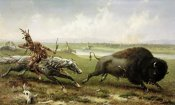 Frederick Walker - Buffalo Hunt