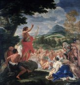 Baciccio - The Sermon of St. John the Baptist
